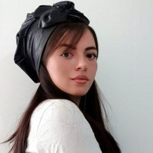 כובע עור פפיון