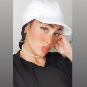 כובע קסקט קצר חלק – לבן